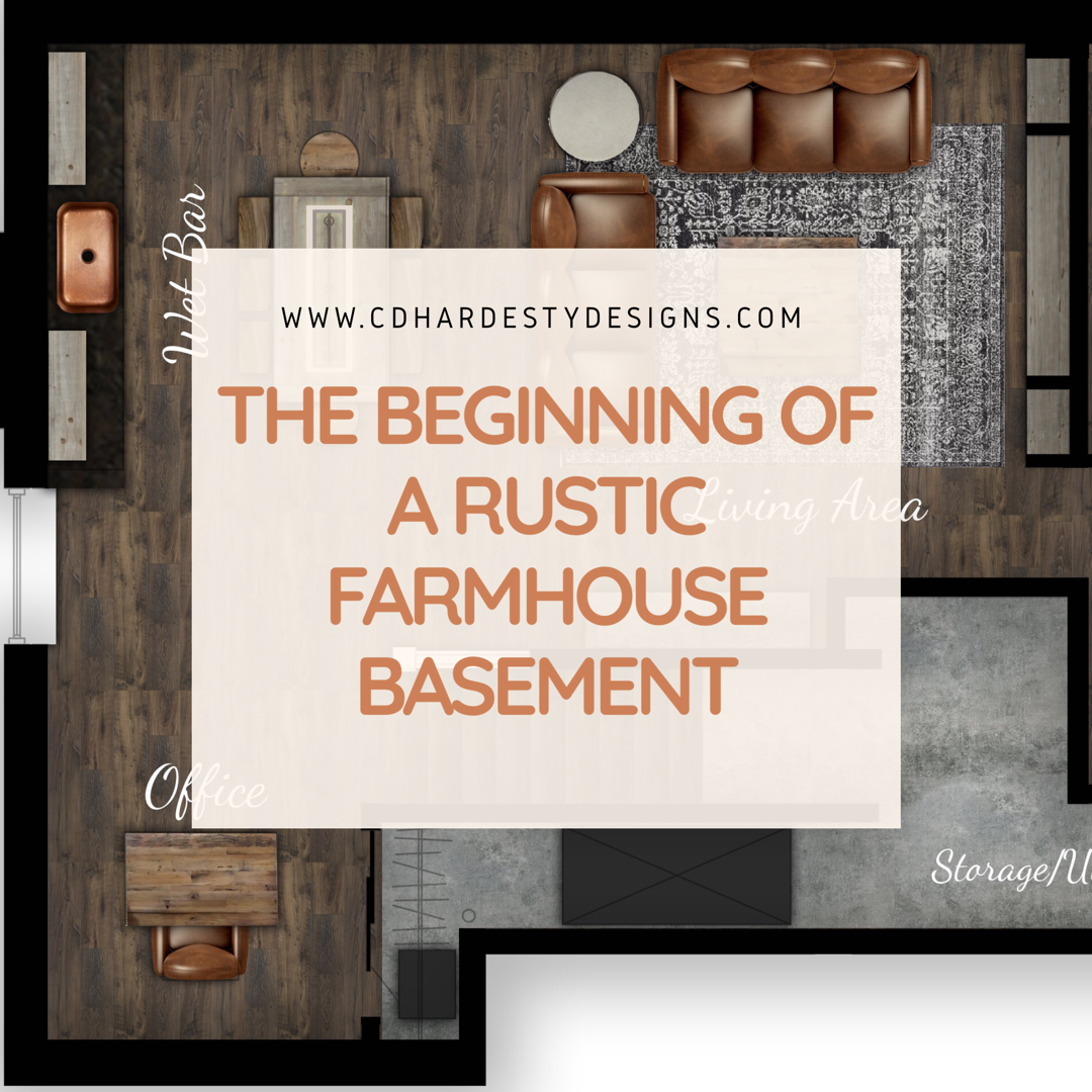 The Beginning Of A Rustic Farmhouse Basement Remodel