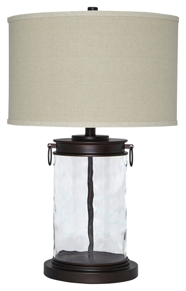 Oil rubbed bronze Tailynn Farmhouse Glass Lamp