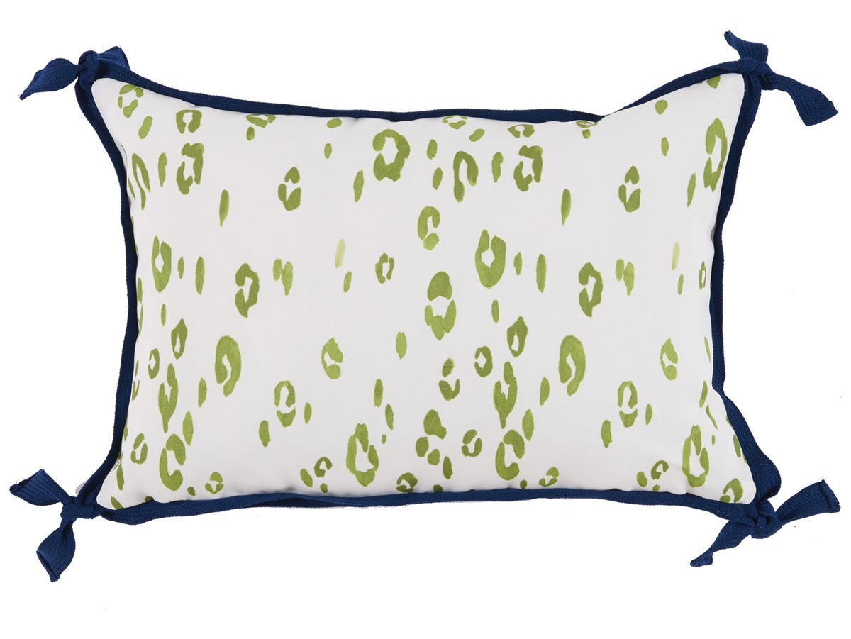 Mix and match these gorgeous Mediterranean blues and kiwi green for a breezy coastal feel. Exclusive pillow designs with custom outdoor trims that are as durable as they are beautiful. Each pillow features a rust proof zipper closure and weather resistant polyfill insert. Do not limit these pillows to outdoors. They are perfect for the sunny spots in your home because of their fade resistant quality.