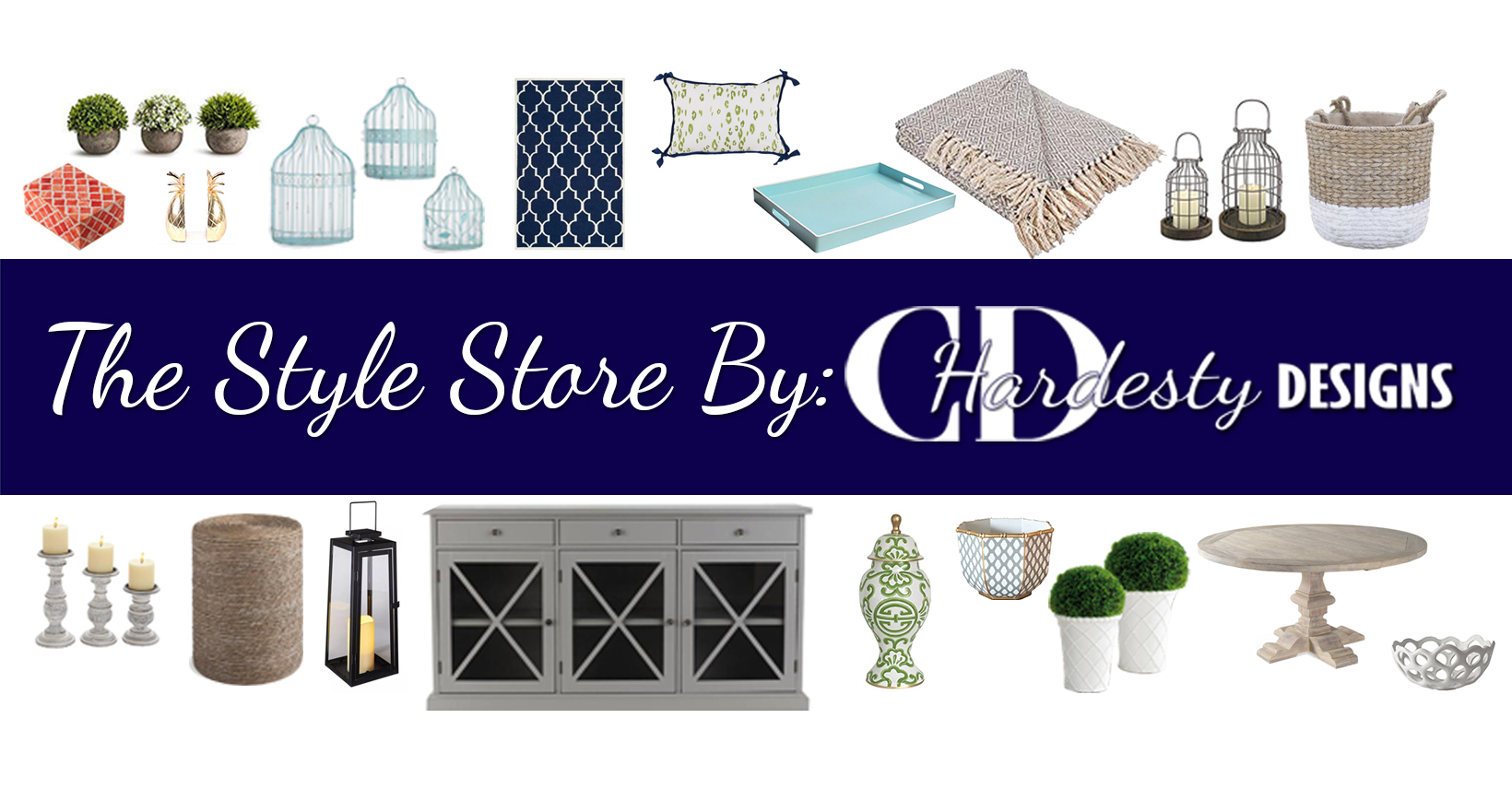 Where you can get designer selected  décor and furniture pieces that you can shop the look on, directly from www.cdhardestydesigns.com
