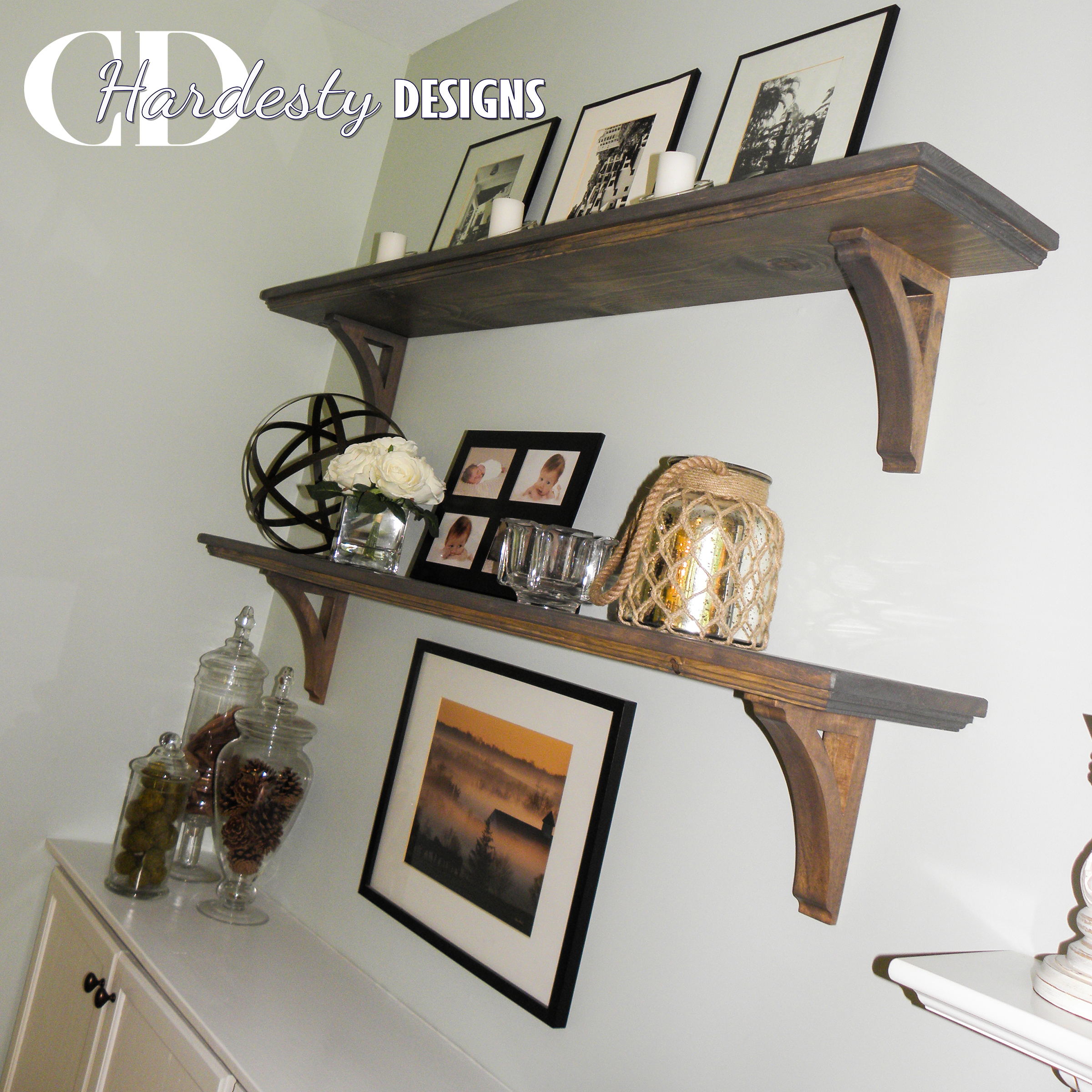 Interior shelf styling by CDHardesty Designs