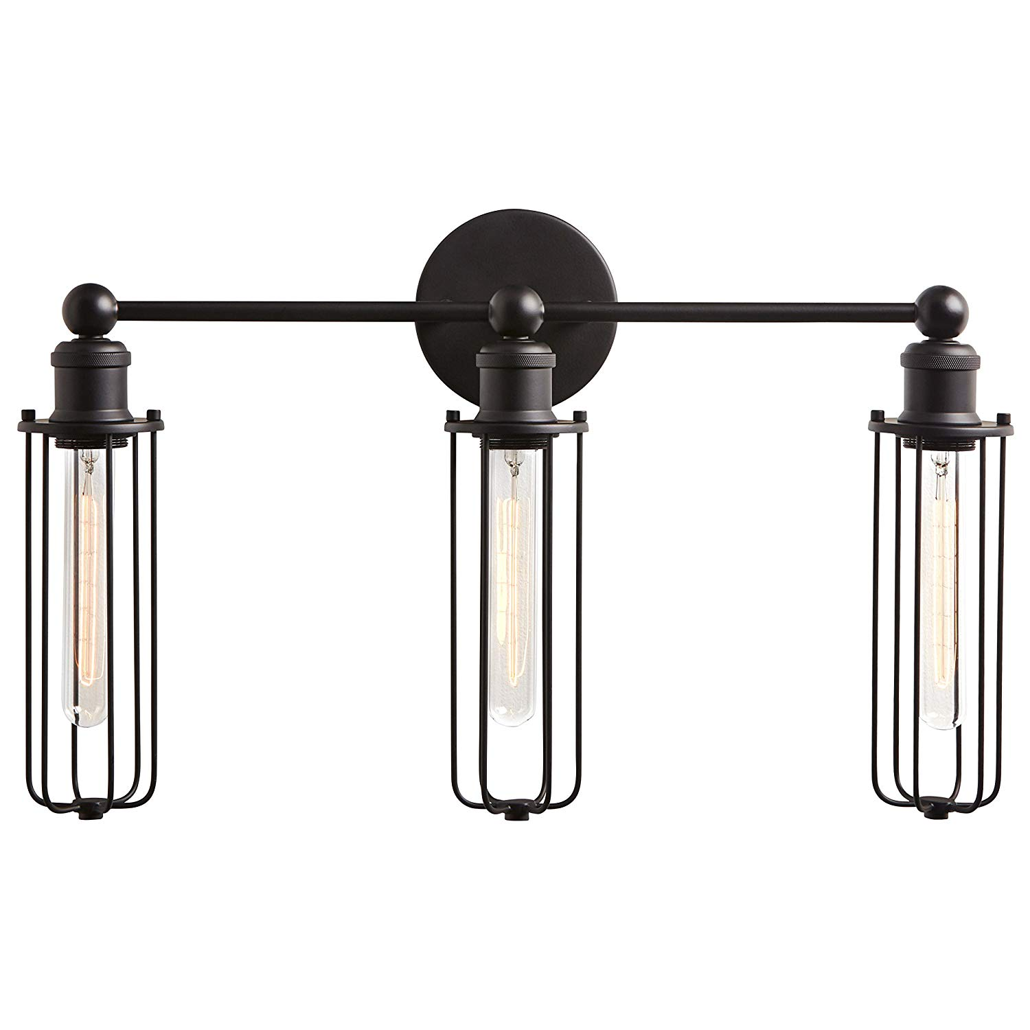 If you want a more modern farmhouse style in your house then these Rivet Industrial Modern 3 Light Bathroom Wall Vanity Sconce are sure to bring it!