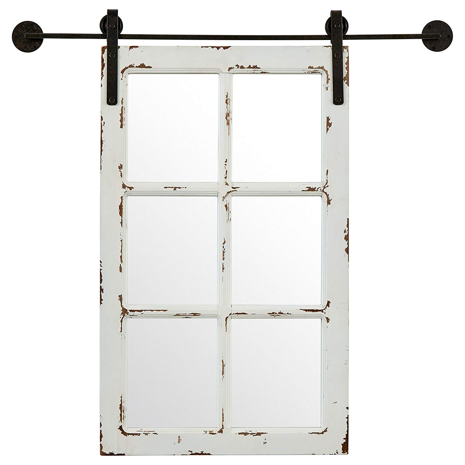 This Stone & Beam Vintage-Look Rectangular Frame White Window Wood Mirror would be the perfect addition to a gallery wall or doubled up to create a focal point on a wall.