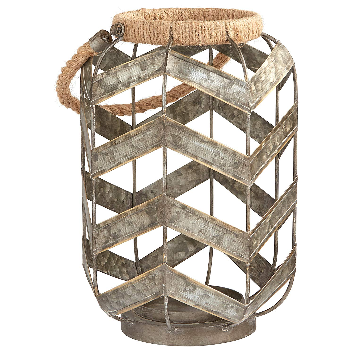 Add Stone & Beam Rustic Farmhouse Metal Jar and Rope Candle Holder to a grouping on your mantle or entryway table to add pattern and texture to your space.